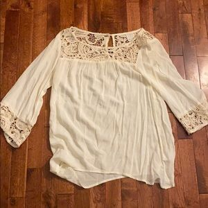 Off white lace long sleeve